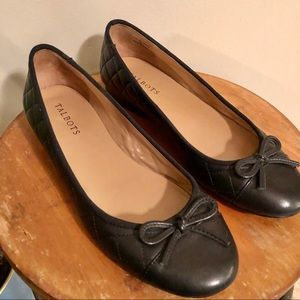 Talbots Quilted Bow Tipped Leather Flats - Sz 8.5